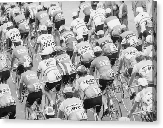 Sports Clothing Canvas Print - Tour De France by Mccabe