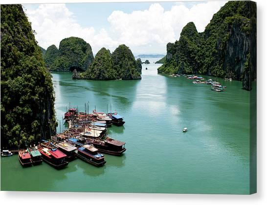 Tourist Boats, Halong Bay, Vietnam Canvas Print
