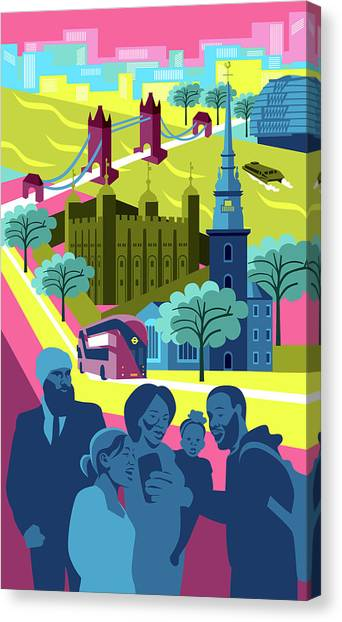 Sikh Art Canvas Print - Tower All Hallows by Claire Huntley