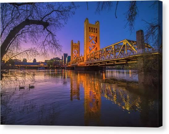 Tower Bridge At Sunrise - 4 Canvas Print