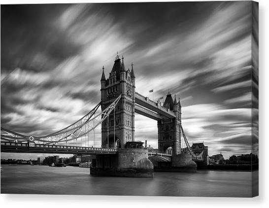 Bridge Canvas Print - Tower Bridge, River Thames, London by Jason Friend Photography Ltd