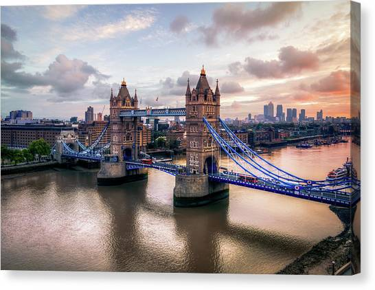Tower Bridge Taken From City Hall Canvas Print