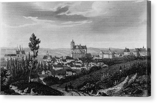 Town Of Le Mans Canvas Print by Hulton Archive