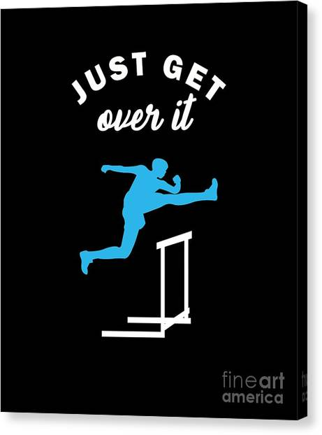 Canvas Print - Track And Field Gymnast Hurdle Runner Running Hurdling Gift by Thomas Larch