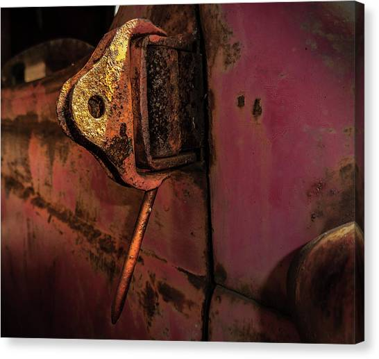 Truck Hinge Canvas Print