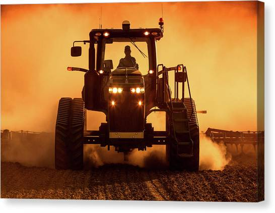 John Deere Canvas Print - Tractor And Dust by Todd Klassy