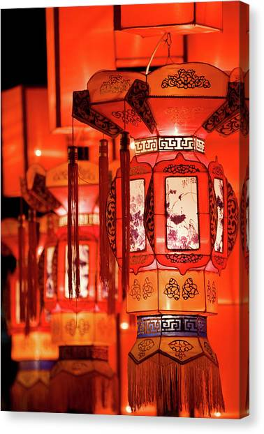Chinese New Year Canvas Print - Traditional Chinese Lantern by Ymgerman