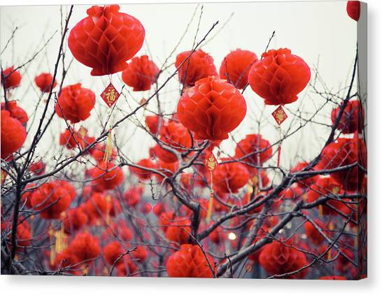 Chinese New Year Canvas Print - Traditional Chinese Lanterns by Eastimages