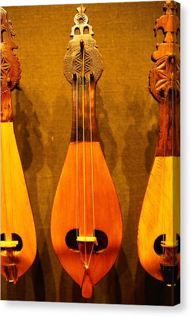 Traditional Instruments On Display In Canvas Print