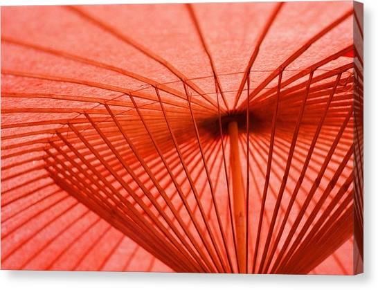 Traditional Japanese Umbrella At Nikko Canvas Print