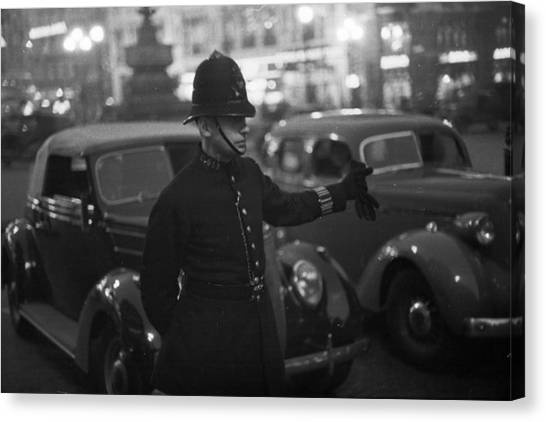 Traffic Cop Canvas Print