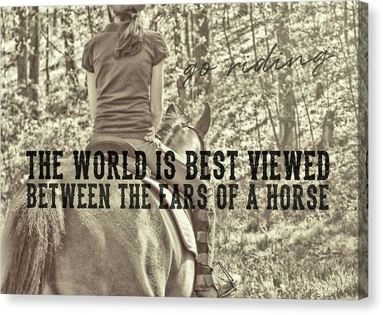 Trail Ride Quote Canvas Print by JAMART Photography