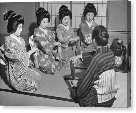 Training Geishas Canvas Print