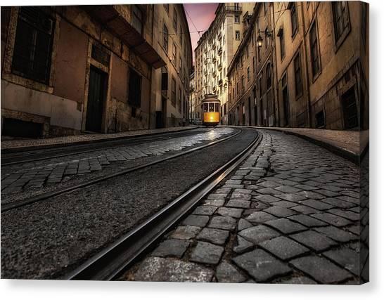 Light Rail Canvas Print - Tram 28 by Jorge Maia