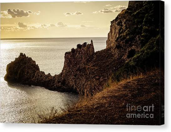 Tranquil Mediterranean Sunset    Canvas Print