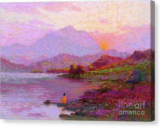 Sun Canvas Print - Tranquil Mind by Jane Small