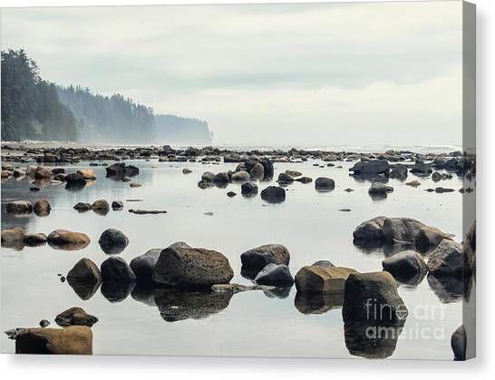 West Canvas Print - Tranquil Sea Water Surface Landscape by Anton Bielousov