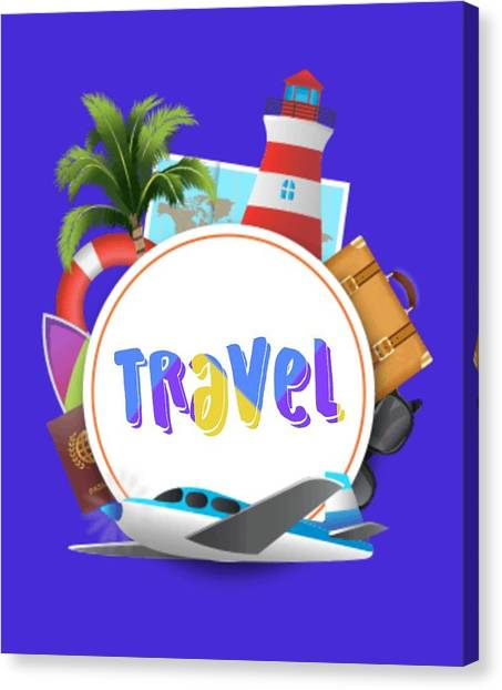 Canvas Print - Travel World by Ize Barbosa DIAMOND IS FOREVER