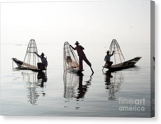 Canoe Canvas Print - Traveling To Myanmar, Outdoor by Banana Republic Images