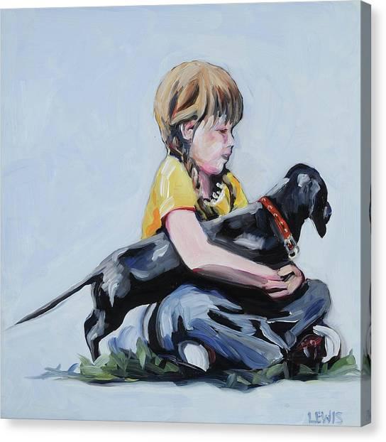Treasured Dog Canvas Print by Anne Lewis
