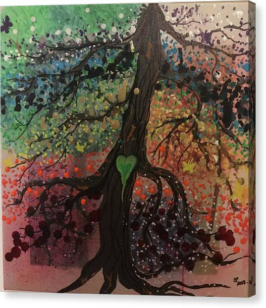 Tree Of Life Chakra Tree Canvas Print