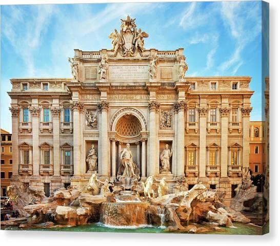 Trevi Fountain, Rome Canvas Print by Nikada