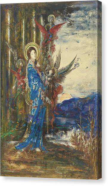 Apparition Canvas Print - Trials by Gustave Moreau