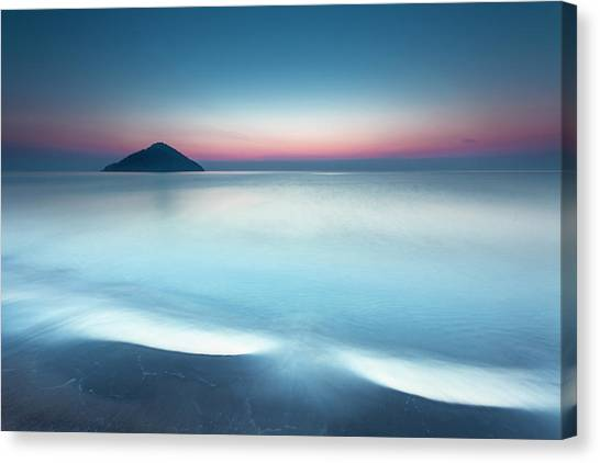 Greece Canvas Print - Triangle Island by Evgeni Dinev
