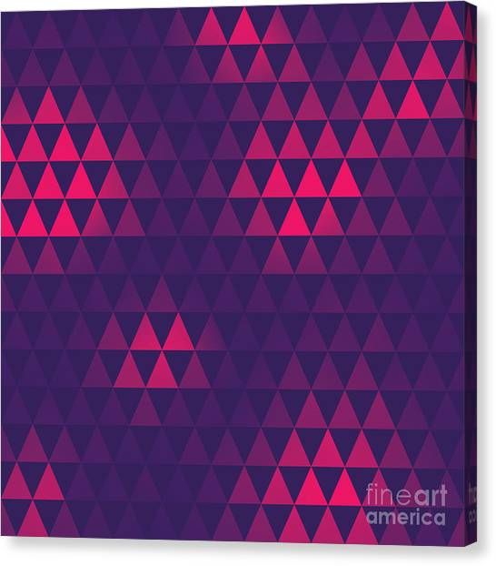 Purple Canvas Print - Triangle Pattern, Vector Illustration by Oliopi