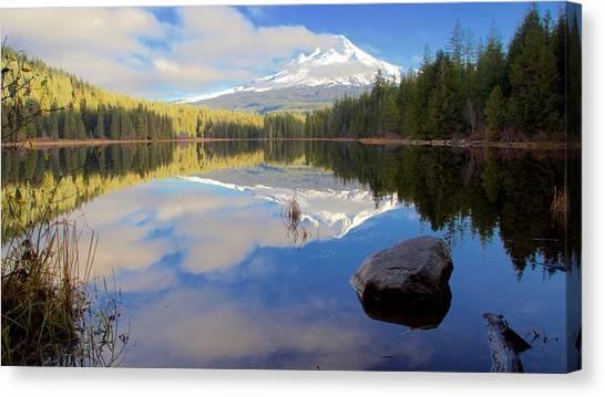 Trillium Lake Morning Reflections Canvas Print