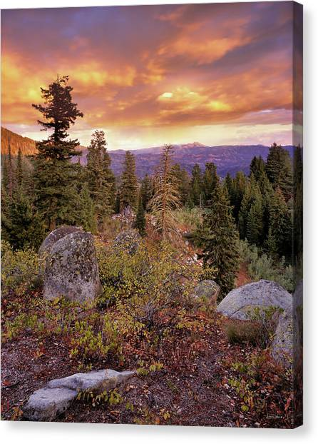 Trinity Mountains Canvas Print by Leland D Howard