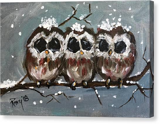 Farmhouse Canvas Print - Triple Threat by Roxy Rich
