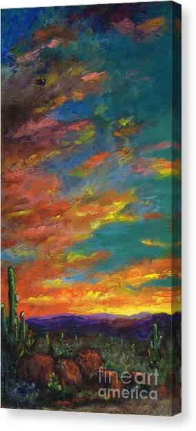 Triptych 1 Desert Sunset Canvas Print