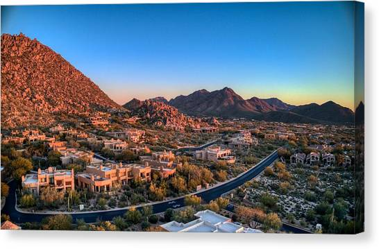 Troon Village Canvas Print