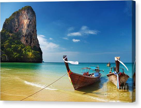 View Canvas Print - Tropical Beach, Traditional Long Tail by Dmitry Pichugin