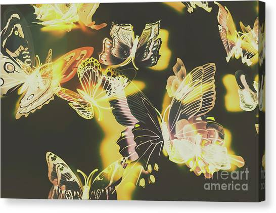 Yellow Butterfly Canvas Print - Tropical Glow by Jorgo Photography - Wall Art Gallery