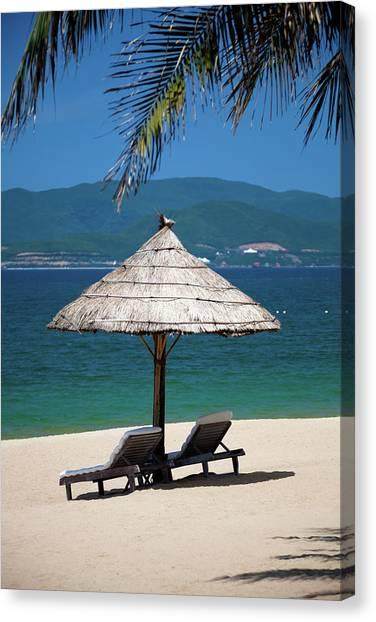 Tropical Holidays On Nha Trang Beach Canvas Print
