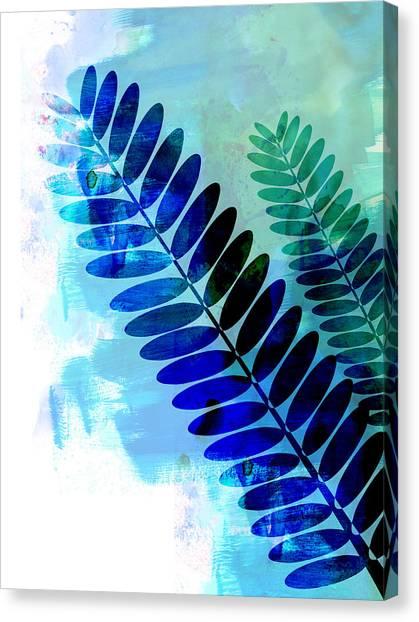 Tasteful Canvas Print - Tropical Leaf Watercolor 3 by Naxart Studio