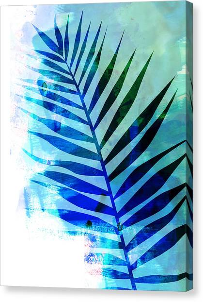 Cacti Canvas Print - Tropical Leaf Watercolor I by Naxart Studio