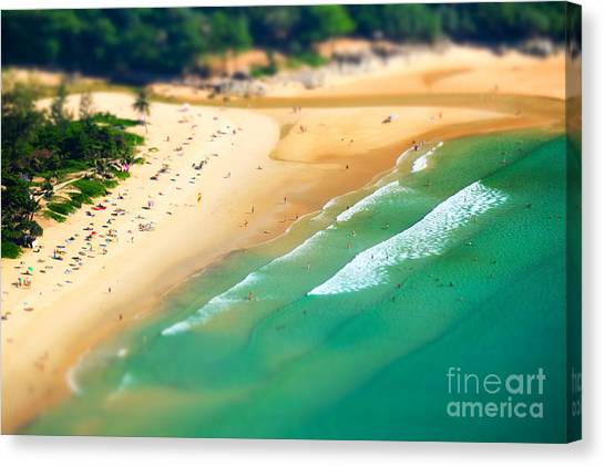 Sandy Beach Canvas Print - Tropical Sandy Beach Landscape From by Perfect Lazybones