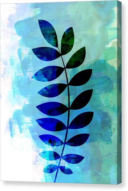 Cacti Canvas Print - Tropical Zamioculcas Leaf Watercolor by Naxart Studio