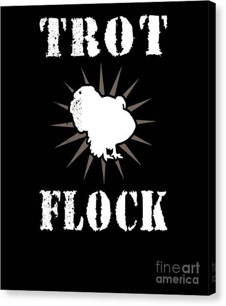 Fun Run Canvas Print - Trot Flock Running Group Turkey Day 5k Fun Run by Henry B