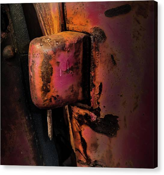 Truck Hinge With Nail Canvas Print