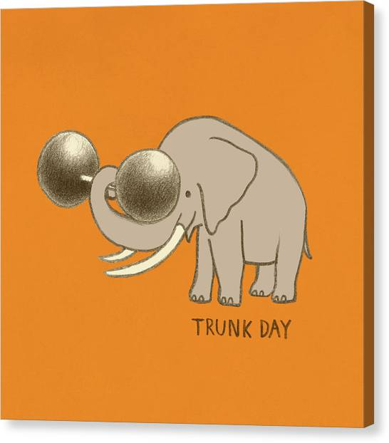 Exercising Canvas Print - Trunk Day by Eric Fan
