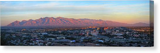 Canvas Print featuring the photograph Tucson At Last Light by Chance Kafka