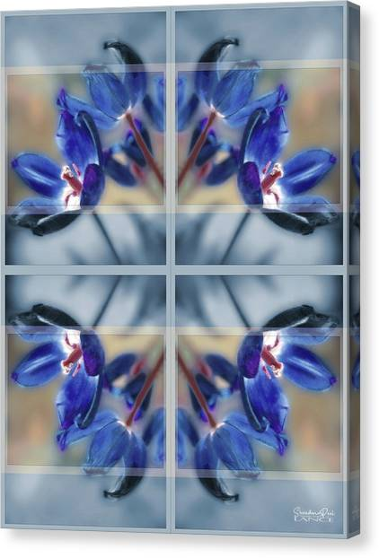Tulips Of Stained Glass Canvas Print