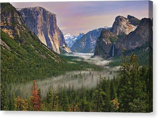 Tunnel View. Yosemite. California Canvas Print