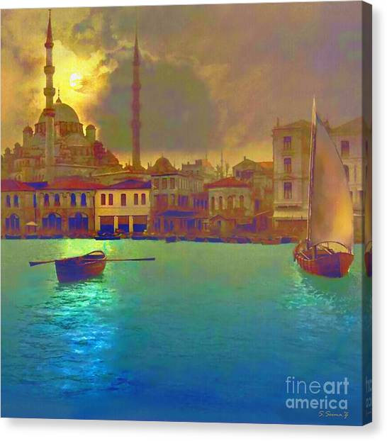 Turkeys Canvas Print - Turkish  Moonlight by S Seema  Z