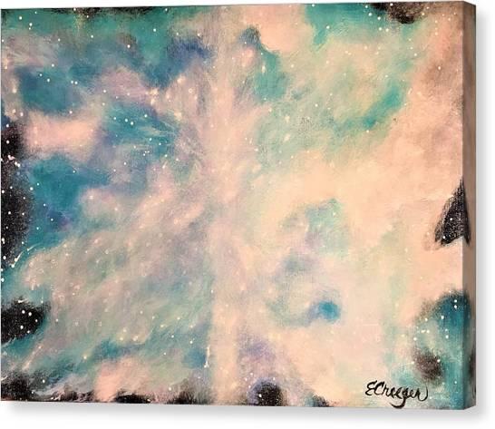 Turquoise Cosmic Cloud Canvas Print