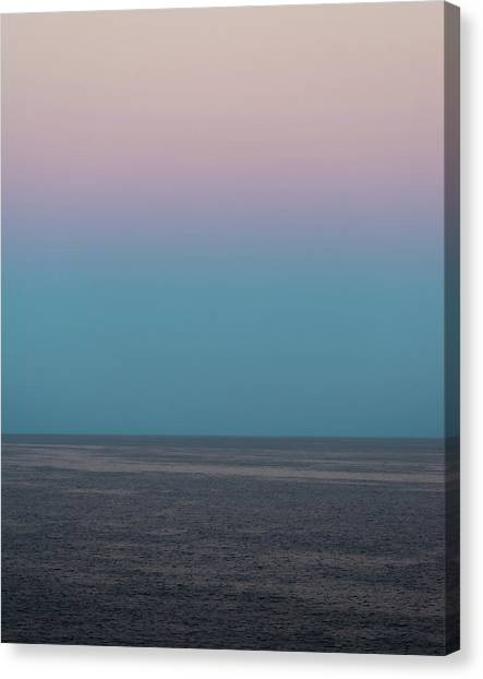 Canvas Print featuring the photograph Twilight At Sea by William Dickman